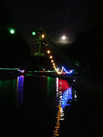 Peasholm Park at night